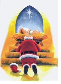 Дед Мороз праславляет Иисуса
